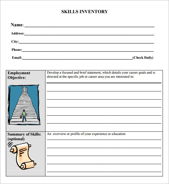 Skills Inventory Template 9 Download Free Documents In Pdf