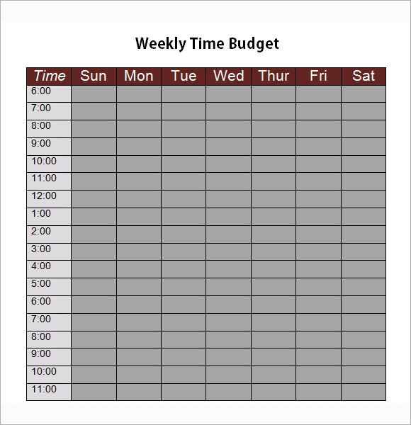 8  weekly budget samples  u2013 pdf  word