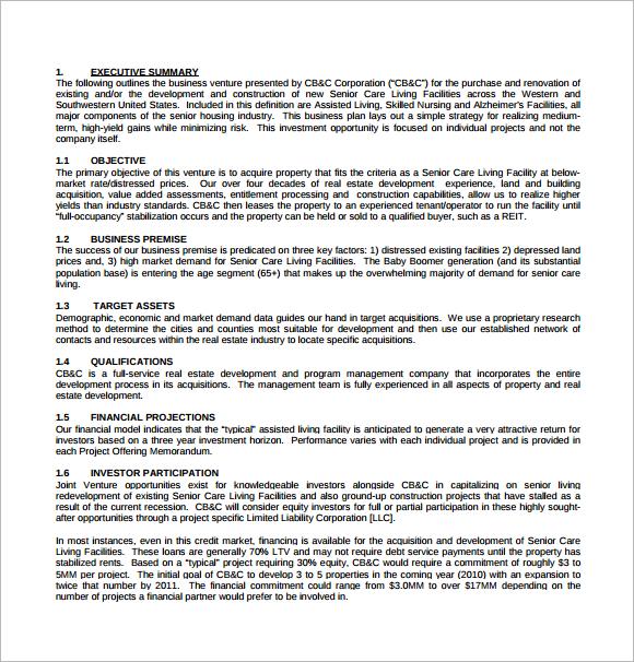 Property Management Business Plan Sample Free