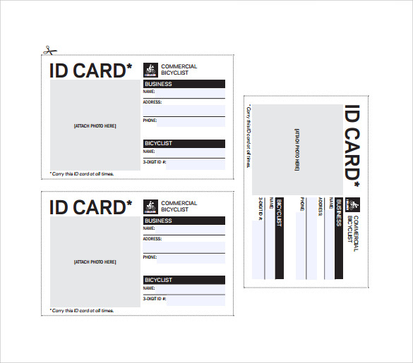 This is a picture of Printable Id Cards within design