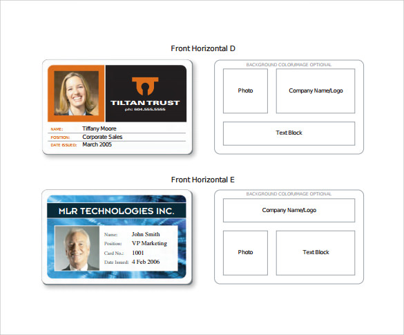 Id card design template maxwellsz