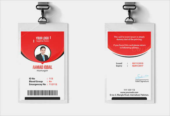 ID Card Template Download In PSD PDF Word - Card template free: employee id card template