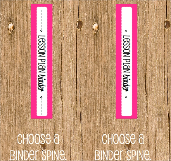 FREE 5+ Sample Binder Spine Templates In PDF