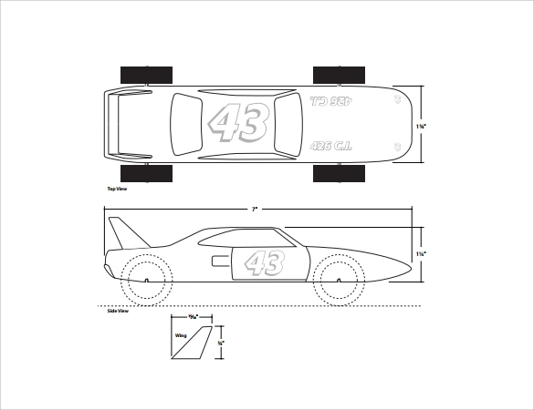 Pinewood Derby Templates 11 Download Documents in PDF – Pinewood Derby Template