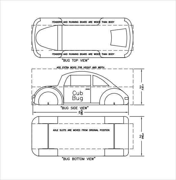 Pinewood Derby Plans ~ Sample pinewood derby templates to download
