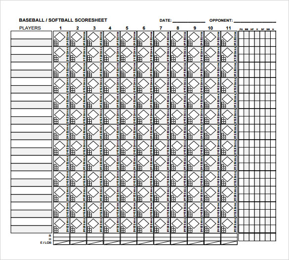 Sample Baseball Score Sheet - 6+ Documents In Pdf
