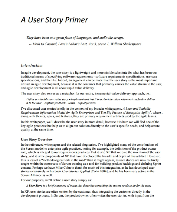 User Story Template Images  Reverse Search
