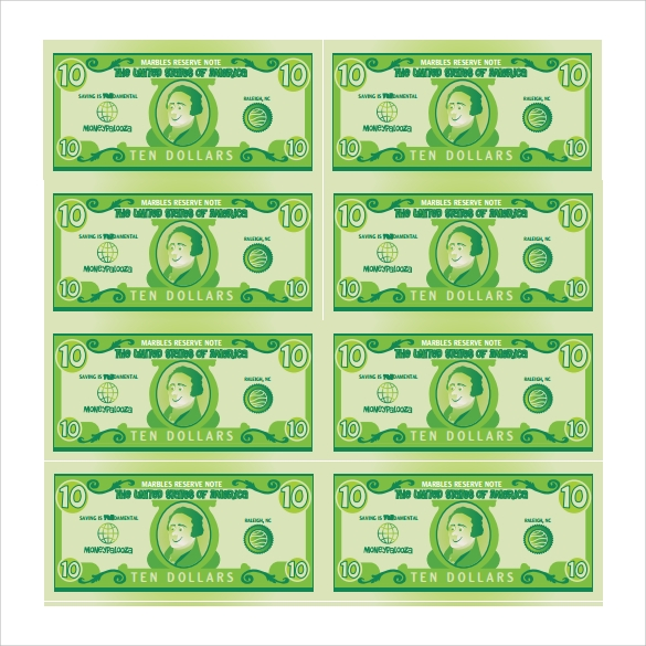 Play Money Template   Download Documents In Pdf  Psd Vector