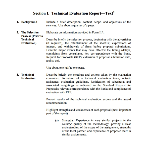 Sample Evaluation Report Report Writing English Official Report