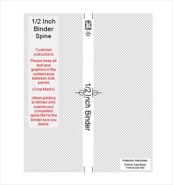 templates binder spine