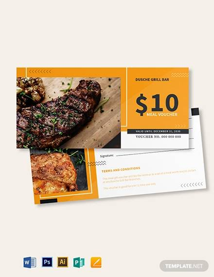 10 food voucher template
