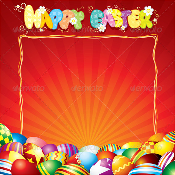 blank easter card template
