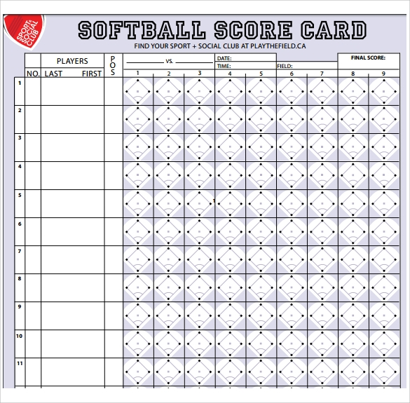 picture relating to Printable Softball Score Sheets identify No cost 10+ Pattern Softball Ranking Sheets inside of Google Docs