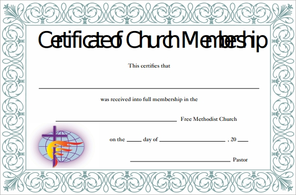 church membership certificate pdf free download