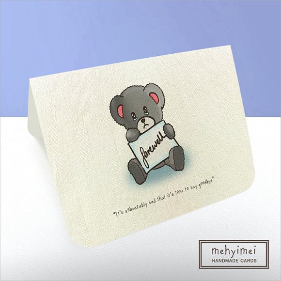 simple farewell card