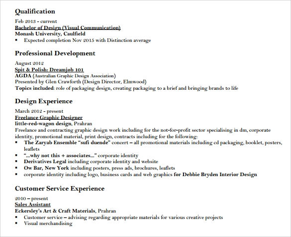 download designer resume template