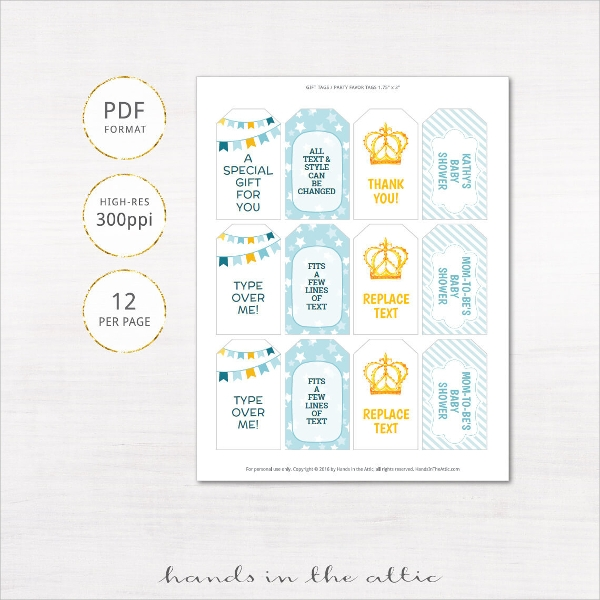 baby shower gift tag template1