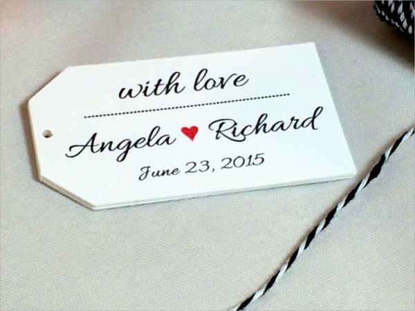 Wedding Gift Tags Template : Wedding Gift Tag Template