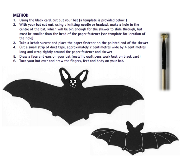 sample flapping bat template