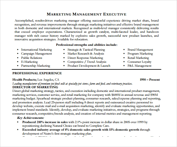 marketing analyst resume template 6 free