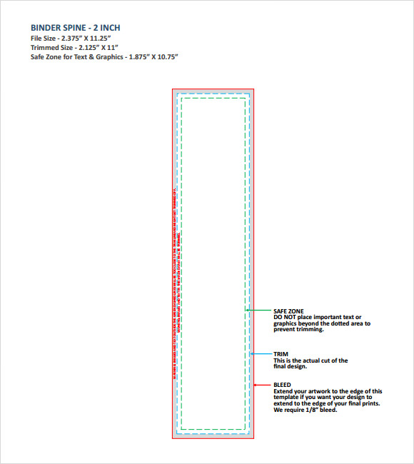 Binder Spine Template   7  Download Free Documents in PDF Word PPT odthZP4F