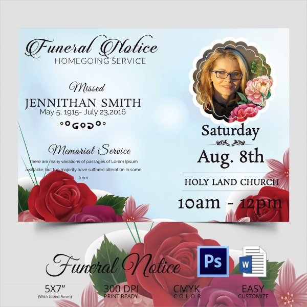 funeral service template