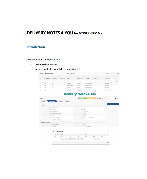inventory delivery note template