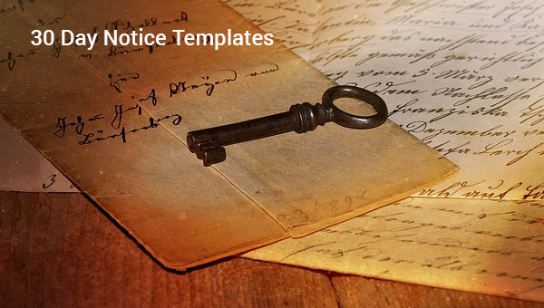 30 Day Notice Templates