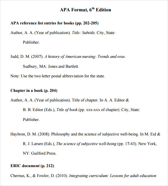 Apa 5th edition sample essay paper for Apa version 6 template