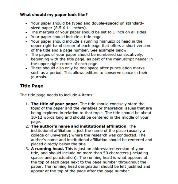 7  sample apa format templates