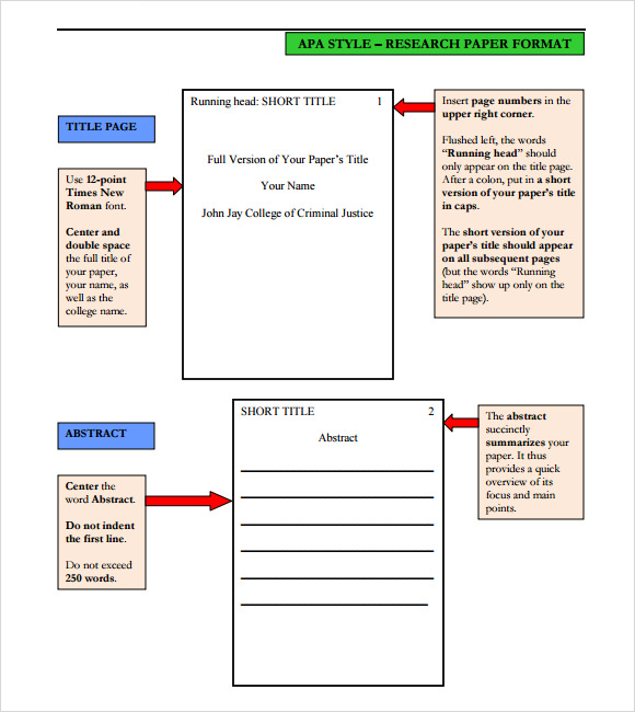 Sample Apa Format Template - 6+ Free Documents In Pdf, Word