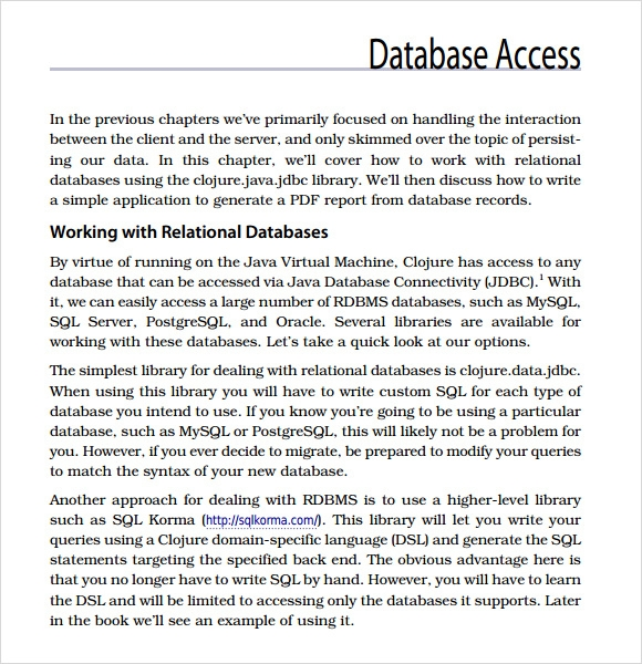 access database template 2010
