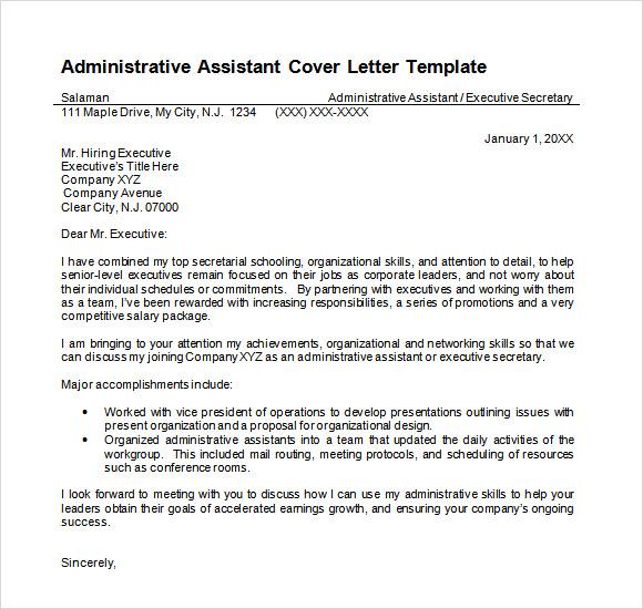 Job cover letter administrative altavistaventures Images