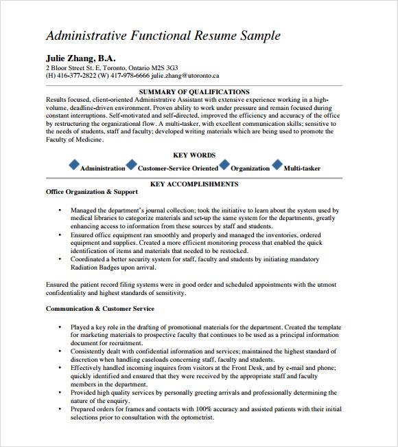 functional resume template word .