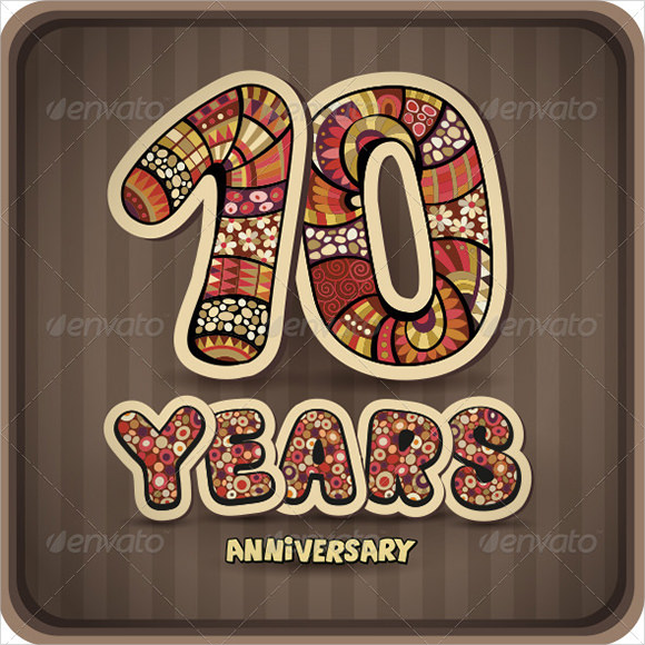 anniversary card design template