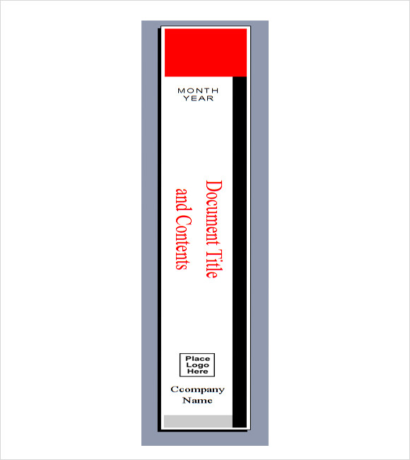 Binder Spine Template vnzgames – Binder Spine Template
