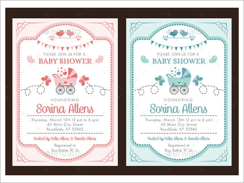 Sample Invitation Template Download Premium and Free Documents in – Baby Shower Templates Word
