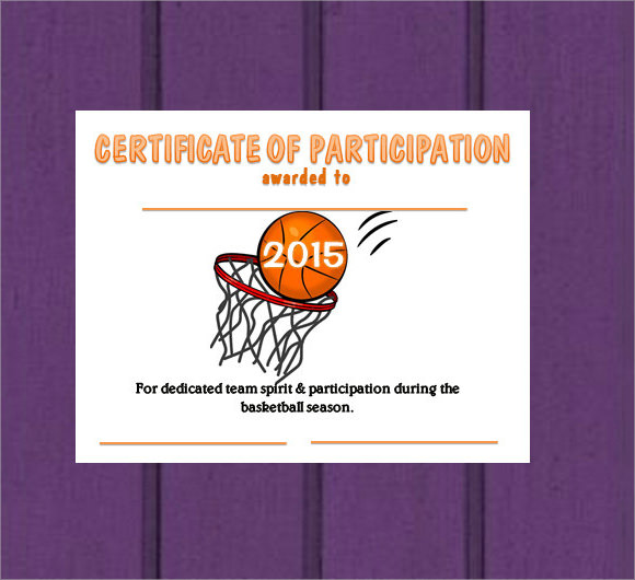 9  basketball certificate templates