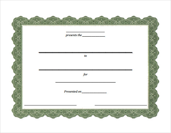 Attendance Certificate Template  Download Free Documents In Pdf