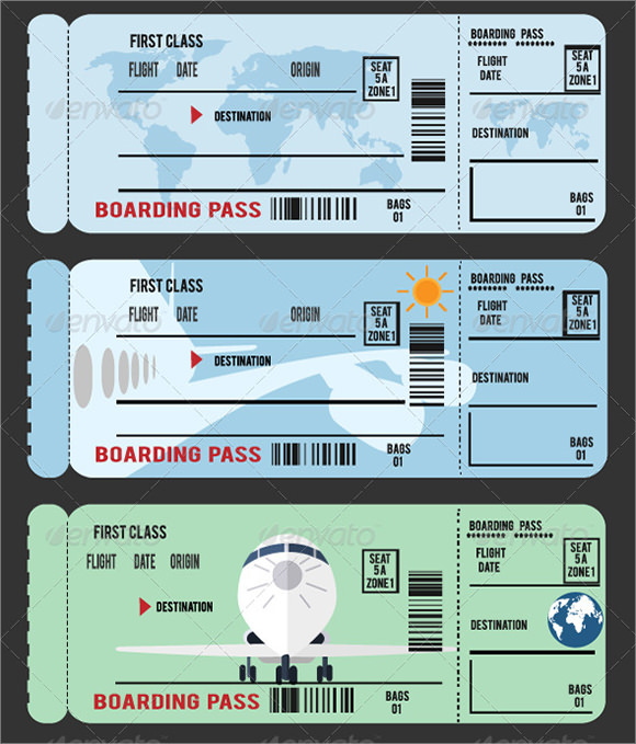 Sample Boarding Pass   Documents In Pdf  Psd  Vector