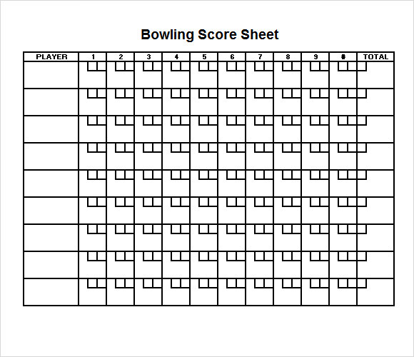 Printable bowling score sheet excel pokemon go search for Bowling recap sheet template