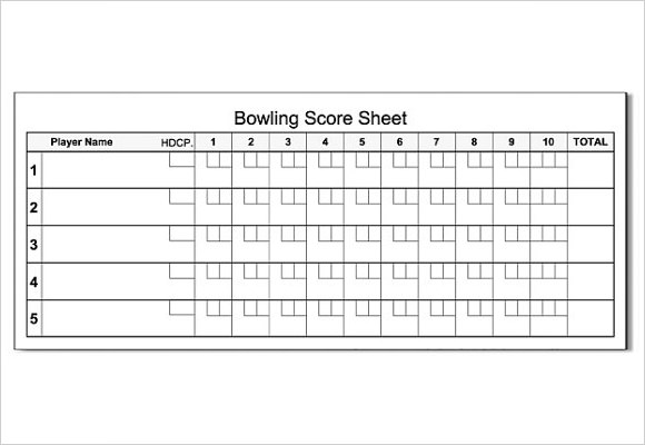bowling score sheet template 9 download free documents