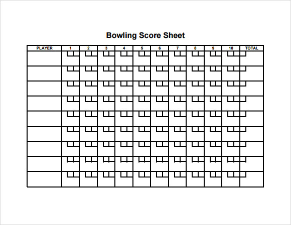 photograph relating to Printable Bowling Score Sheet called No cost 11+ Pattern Bowling Rating Sheets within Google Docs Google