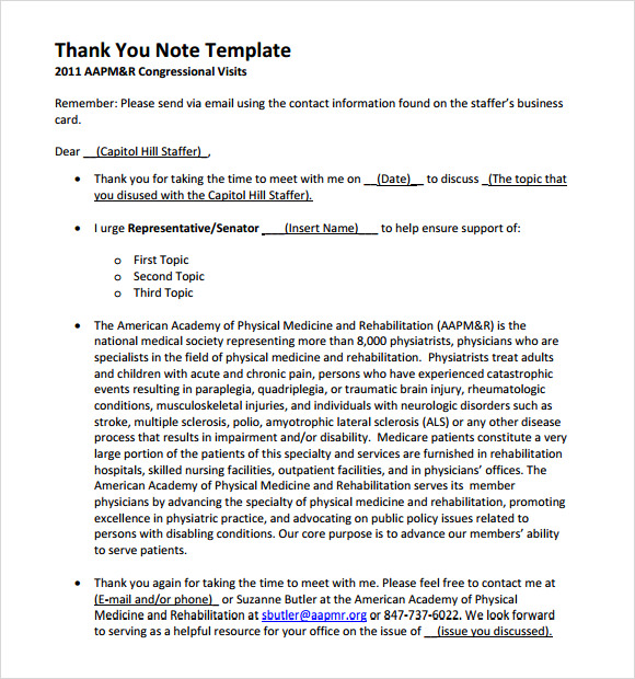 business thank you note templates .