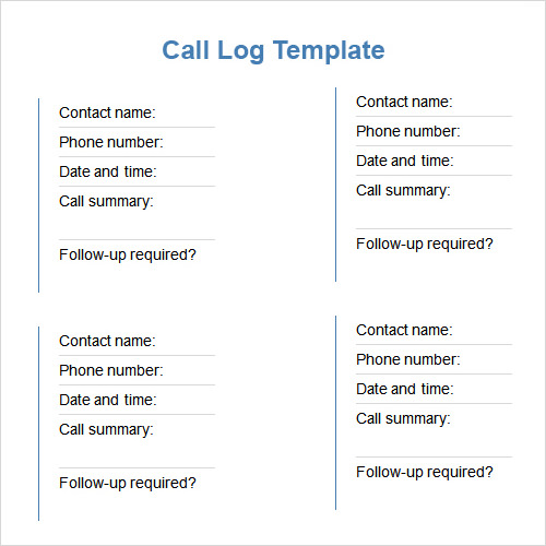 Log Templates in Word