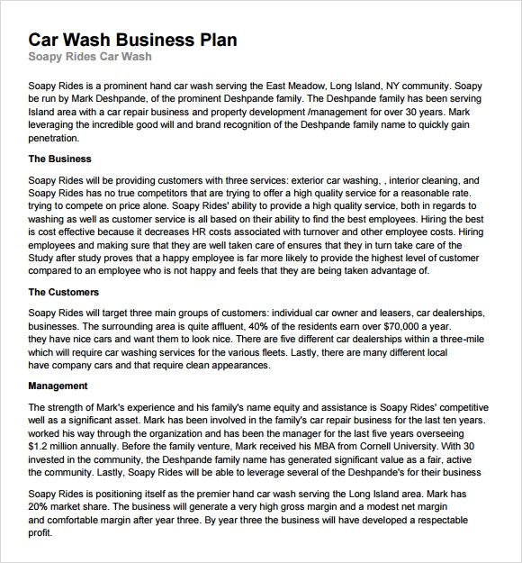 13 car wash business plan template ai psd google docs