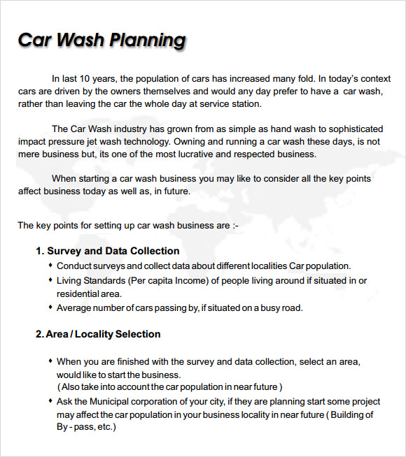 Car Wash Business Proposal Pdf