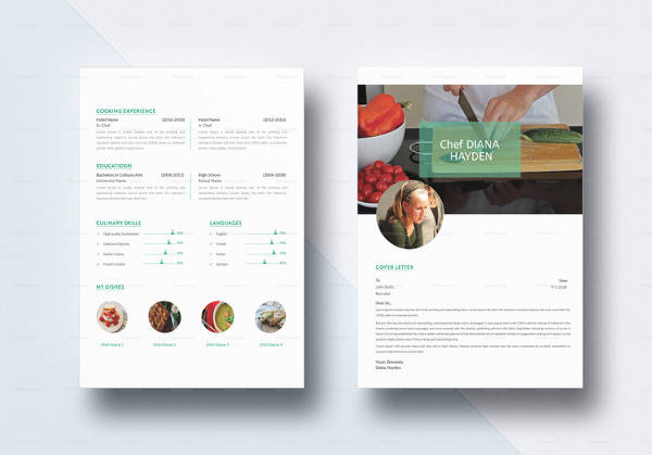 chef resume template to edit