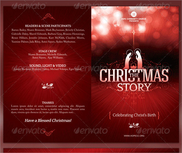 10 amazing sample church bulletin templates to download