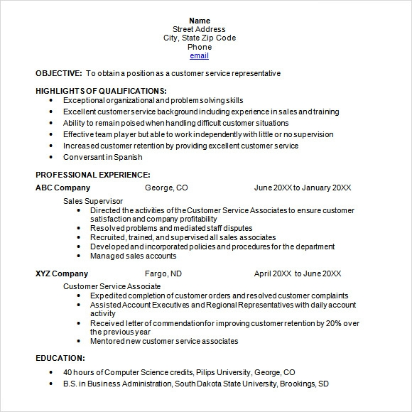 8+ Chronological Resume Templates - Download Documents In Pdf